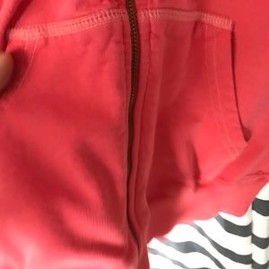 Juicy Couture Tops - Vintage Juicy Couture SS Hoodie Small Coral color